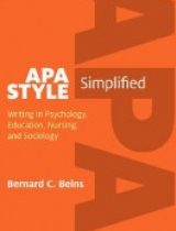 APA Style Simplified Writing in Psychology Education Nursing, and Sociology